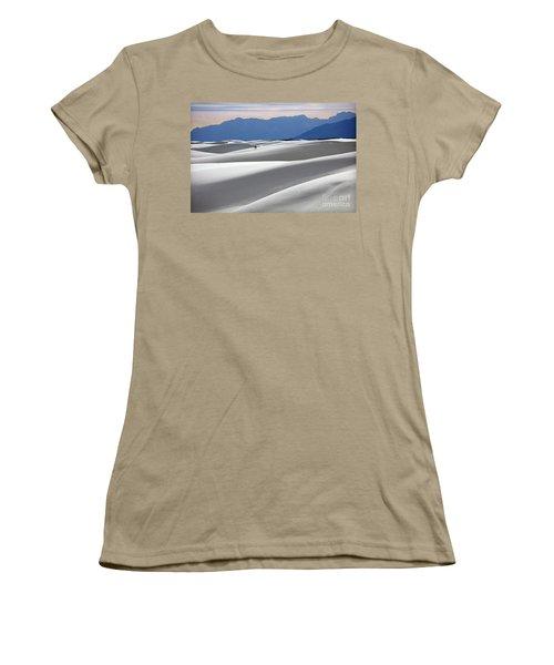 Women's T-Shirt (Junior Cut) featuring the photograph White Sands Hikers by Martin Konopacki