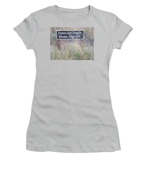 Women's T-Shirt (Junior Cut) featuring the photograph Sand Dune  by Eunice Miller