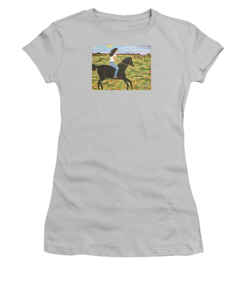 Morning Bareback Ride Women's T-Shirt (Athletic Fit)