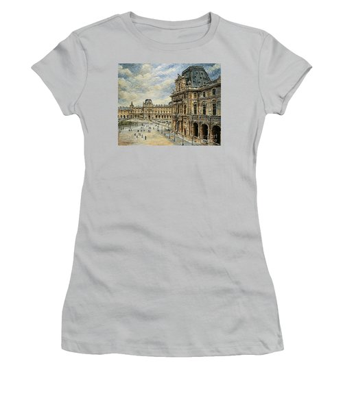 The Louvre Museum Women's T-Shirt (Junior Cut) by Joey Agbayani