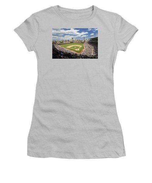 0415 Wrigley Field Chicago Women's T-Shirt (Junior Cut) by Steve Sturgill