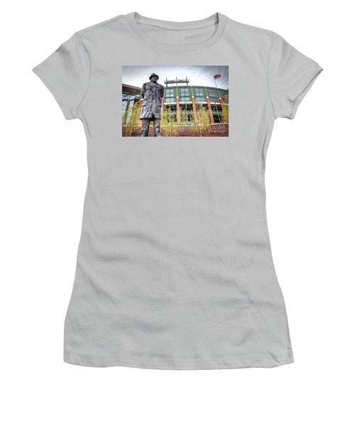 0853 Lombardi Statue Women's T-Shirt (Junior Cut) by Steve Sturgill