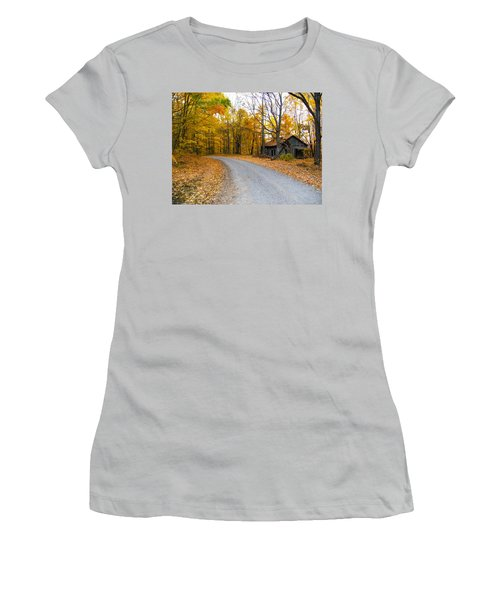 Autumn And The Old House Women's T-Shirt (Athletic Fit)