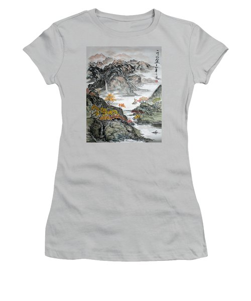 Autumn  Women's T-Shirt (Junior Cut) by Yufeng Wang