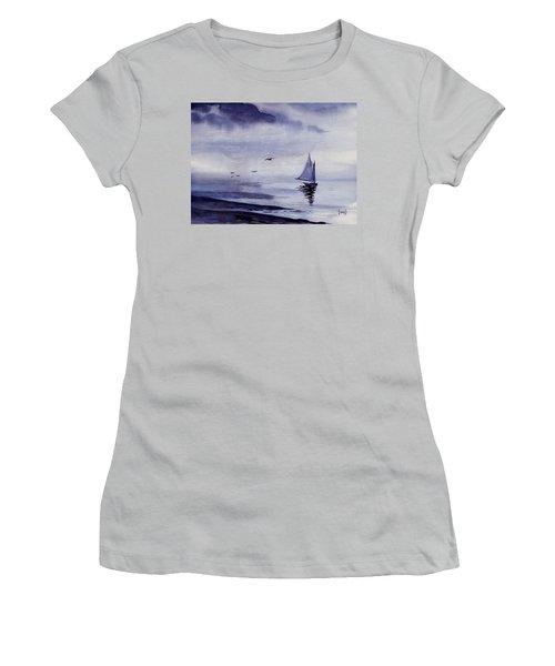 Boat Women's T-Shirt (Junior Cut) by Sam Sidders