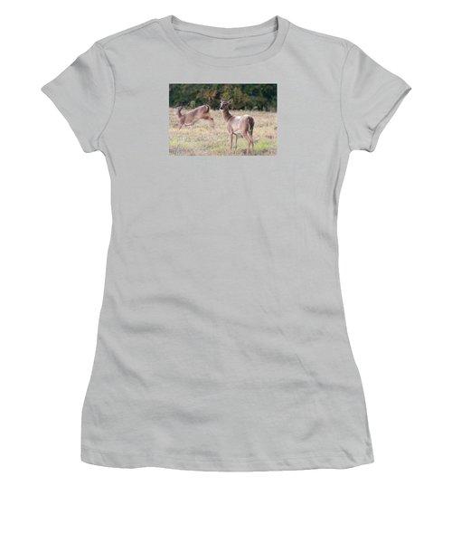 Women's T-Shirt (Junior Cut) featuring the photograph Deer At Paynes Prairie by Paul Rebmann