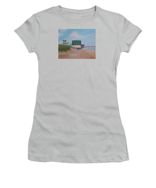 Flagler Beach Florida Women's T-Shirt (Athletic Fit)