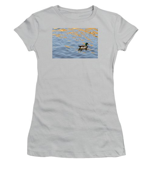 Women's T-Shirt (Junior Cut) featuring the photograph Golden Ripples by Keith Armstrong