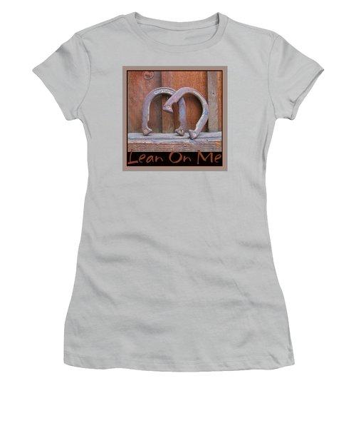 Women's T-Shirt (Junior Cut) featuring the photograph Lean On Me by Brooks Garten Hauschild
