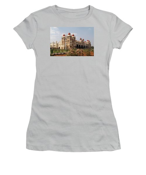 Maharaja's Palace And Garden India Mysore Women's T-Shirt (Junior Cut) by Carol Ailles