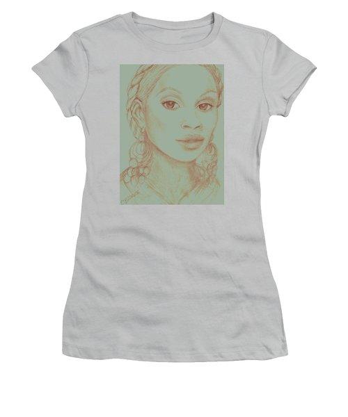 Mary J Blige Women's T-Shirt (Junior Cut) by Christy Saunders Church