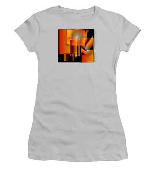Orange Women's T-Shirt (Junior Cut) by Iris Gelbart