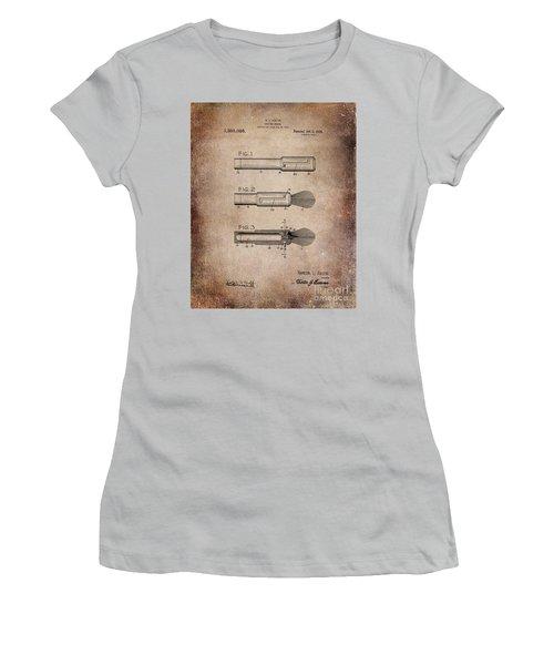 Shaving Brush Diagram 1920  Women's T-Shirt (Athletic Fit)