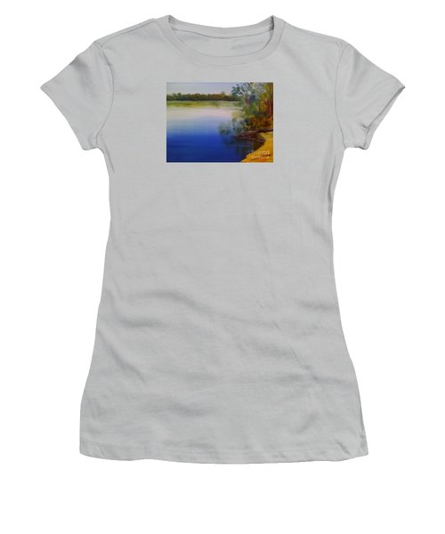 Still Waters - Original Sold Women's T-Shirt (Junior Cut) by Therese Alcorn