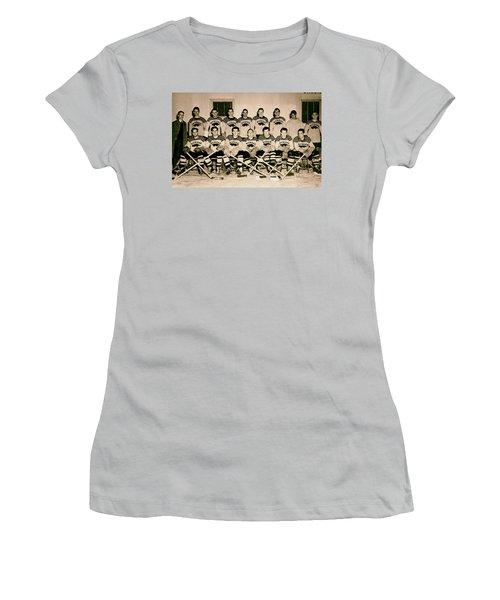 University Of Michigan Hockey Team 1947 Women's T-Shirt (Junior Cut) by Mountain Dreams