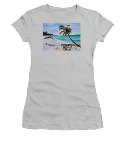 Women's T-Shirt (Junior Cut) featuring the painting West Of Zanzibar by Sher Nasser