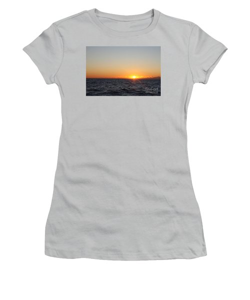 Winter Sunrise Over The Ocean Women's T-Shirt (Athletic Fit)
