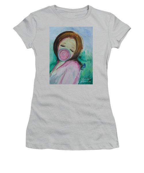 Women's T-Shirt (Athletic Fit) featuring the painting You're Beautiful by Laurie L