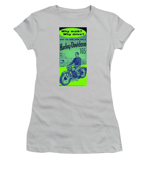 1954 Harley Davidson 165 Ad Women's T-Shirt (Junior Cut) by Peter Gumaer Ogden