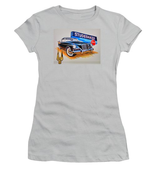 1957 Studebaker Golden Hawk Women's T-Shirt (Athletic Fit)