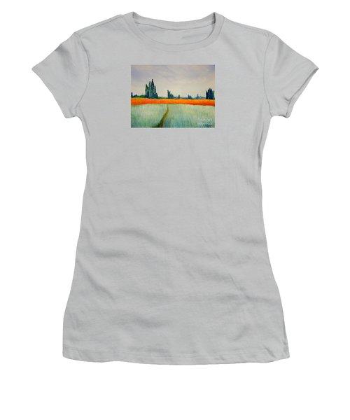 After Monet Women's T-Shirt (Junior Cut) by Bill OConnor