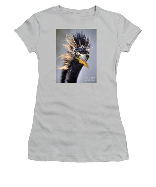 Women's T-Shirt (Junior Cut) featuring the photograph Anhinga  by Savannah Gibbs