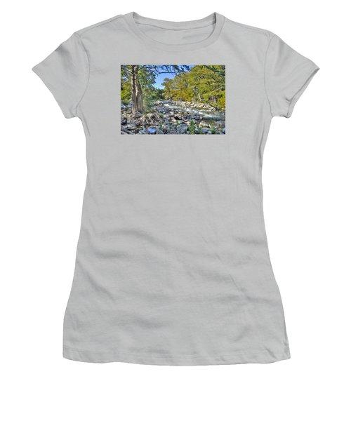 Guadalupe River Women's T-Shirt (Junior Cut) by Savannah Gibbs