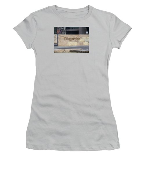 Women's T-Shirt (Junior Cut) featuring the photograph City Garden by Kelly Awad