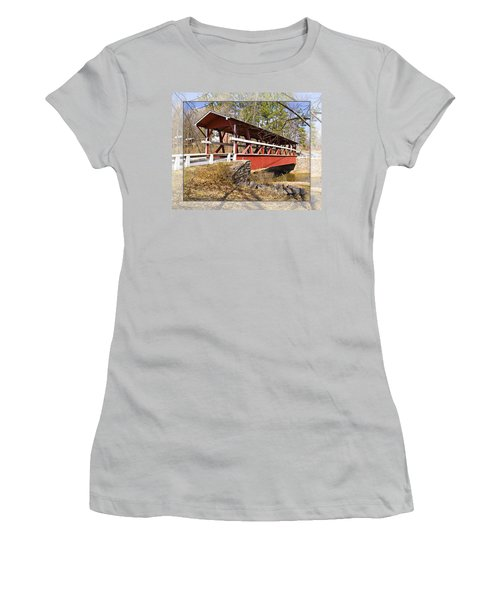 Covered Bridge In Pa. Women's T-Shirt (Athletic Fit)