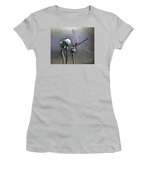 Women's T-Shirt (Junior Cut) featuring the photograph Dragonfly by Savannah Gibbs