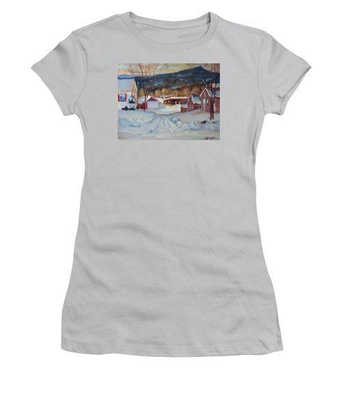 Women's T-Shirt (Junior Cut) featuring the painting Eddie's by Len Stomski