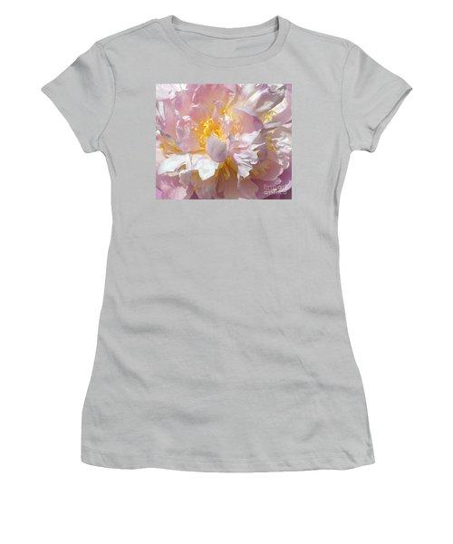 Women's T-Shirt (Junior Cut) featuring the photograph Flirtatious Pink by Lilliana Mendez