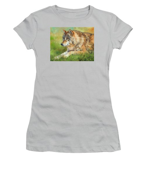 Grey Wolf Women's T-Shirt (Athletic Fit)