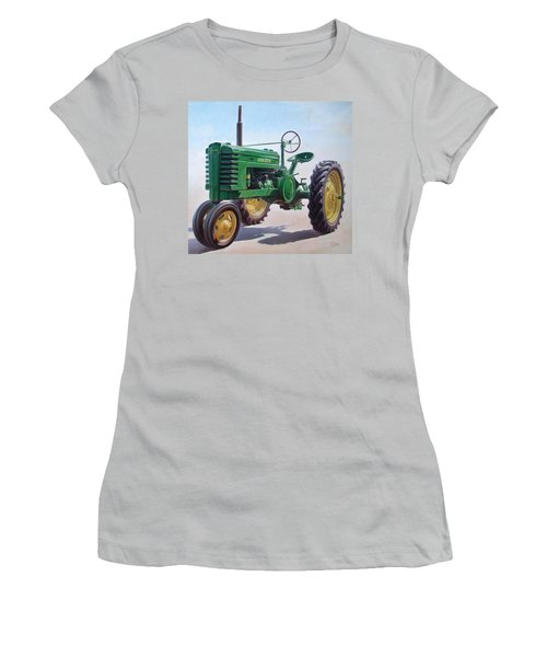 John Deere Tractor Women's T-Shirt (Junior Cut) by Hans Droog