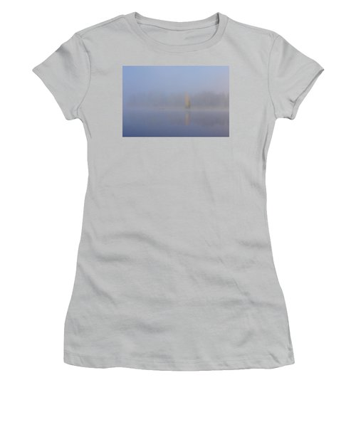 Misty Morning On A Lake Women's T-Shirt (Athletic Fit)