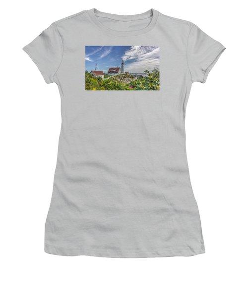 Women's T-Shirt (Junior Cut) featuring the photograph Portland Headlight by Jane Luxton