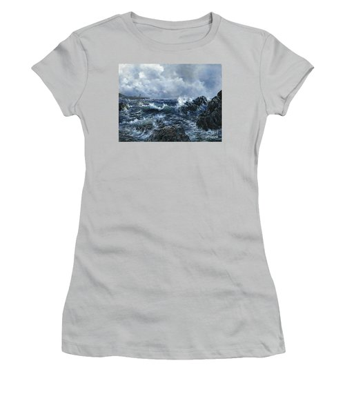 Women's T-Shirt (Junior Cut) featuring the painting Sailor's Light by Lynne Wright