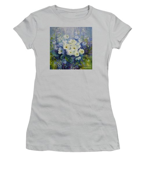 Women's T-Shirt (Junior Cut) featuring the painting Spring by Elena Oleniuc