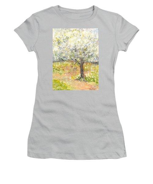 Spring Women's T-Shirt (Junior Cut) by Evelina Popilian