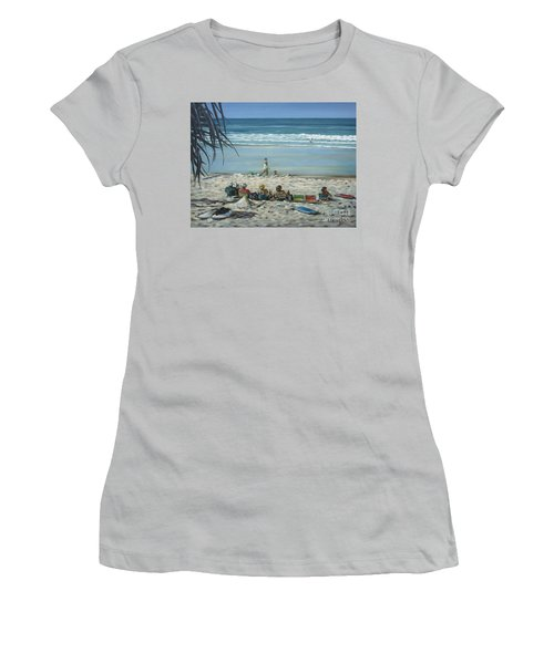Burleigh Beach 220909 Women's T-Shirt (Junior Cut) by Selena Boron
