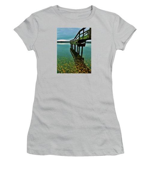 3 Mile Harbor Women's T-Shirt (Junior Cut) by John Wartman