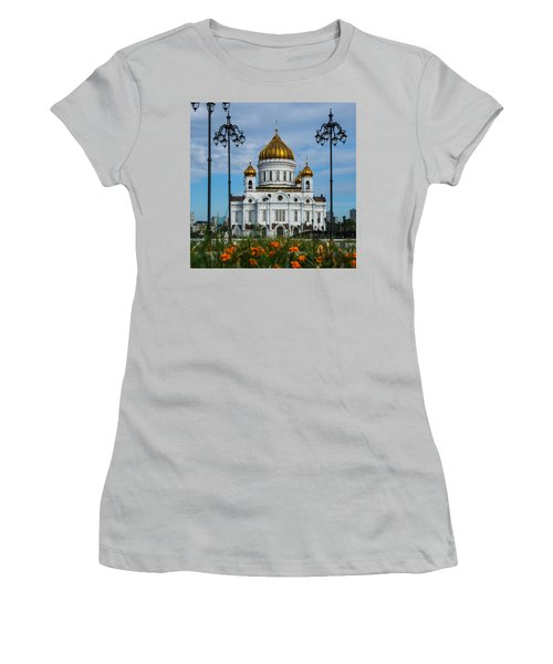 Cathedral Of Christ The Savior Of Moscow - Russia - Featured 3 Women's T-Shirt (Junior Cut) by Alexander Senin