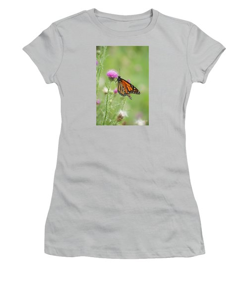 Women's T-Shirt (Junior Cut) featuring the photograph Monarch Butterfly by Heidi Poulin