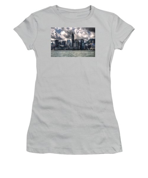 Women's T-Shirt (Junior Cut) featuring the photograph Hong Kong Harbour by Joe  Ng
