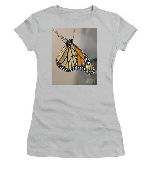 #6 Has Left The Building Women's T-Shirt (Junior Cut) by Carol  Bradley