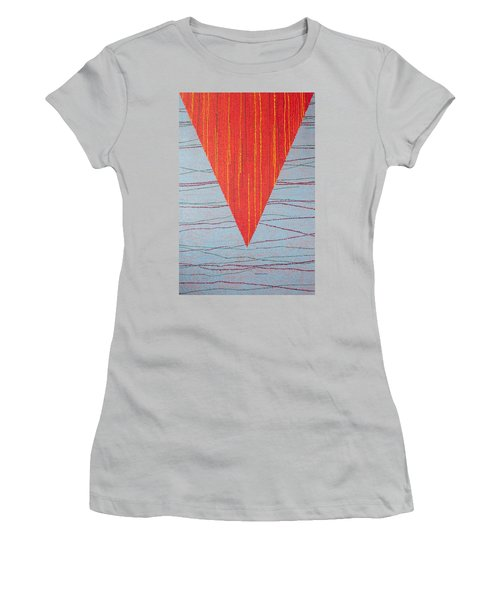 Women's T-Shirt (Junior Cut) featuring the painting Untitled by Kyung Hee Hogg