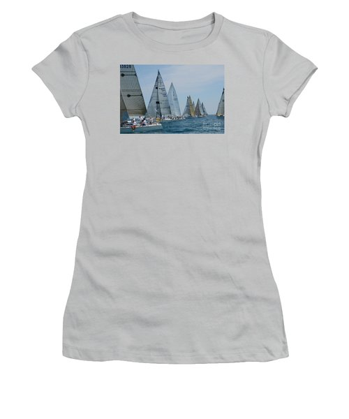 Sailboat Race Women's T-Shirt (Athletic Fit)