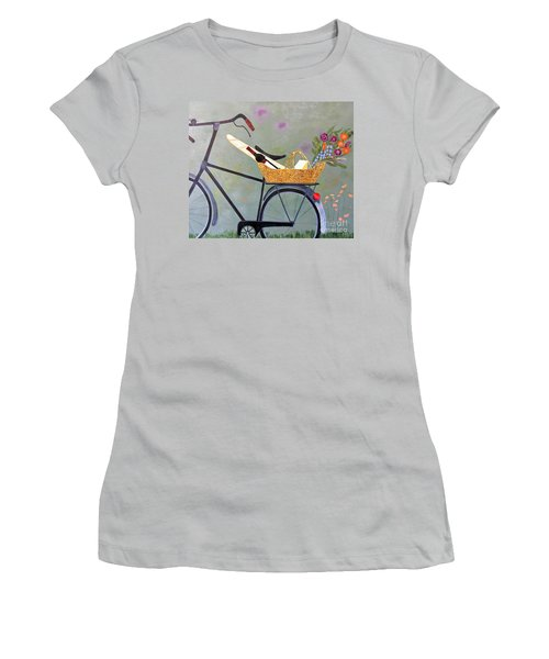 A Bicycle Break Women's T-Shirt (Athletic Fit)