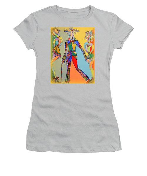 Women's T-Shirt (Junior Cut) featuring the painting Men's Fantasy by Marie Schwarzer
