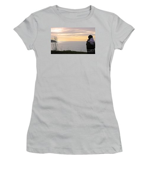 Women's T-Shirt (Junior Cut) featuring the photograph A Father's Love by Suzanne Oesterling